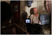 <strong>On set of Fragile Storm with Lance Henriksen and Jody Jaress.</strong>