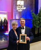 <strong>Houston Chiropractor Gregory Johnson celebrates Doctor of the Year award by the Texas Chiropractic Association with his wife and Advanced Chiropractic Relief office manager, Renae Johnson.</strong>