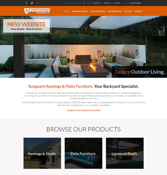 Backyard Specialists Sunguard Awnings is Updating Their Website