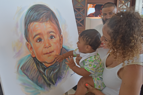 DJ Khaled Celebrates Baby's First Celebrity Portrait