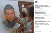 <strong>Jamaal Rolle's portrait of Asahd Khaled is widely viewed on DJ Khaled's Instagram page</strong>
