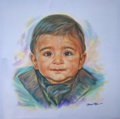 <strong>Asahd Khaled portrait painted by Jamaal Rolle, The Celebrity Artist</strong>