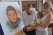 <strong>Khaled family celebrates baby Asahd's portrait painted by Jamaal Rolle, the Celebrity Artist</strong>