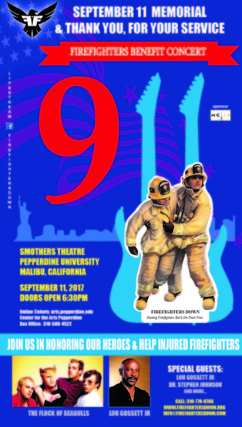FireFighters Down 1st Annual Memorial Concert 9/11; Featuring A Flock of Seagulls with Guest Speaker Lou Gossett Jr