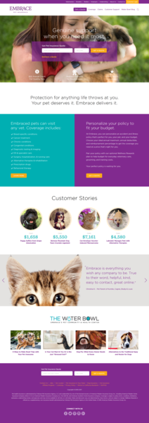 Trio of Pet-loving Cleveland Brands Bring Embrace Pet Insurance's New Website to Life