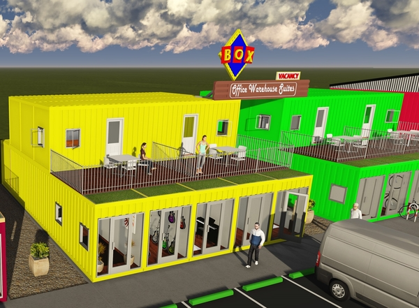 Fort Worth Retail Space for Lease Made of Versatile Shipping Containers