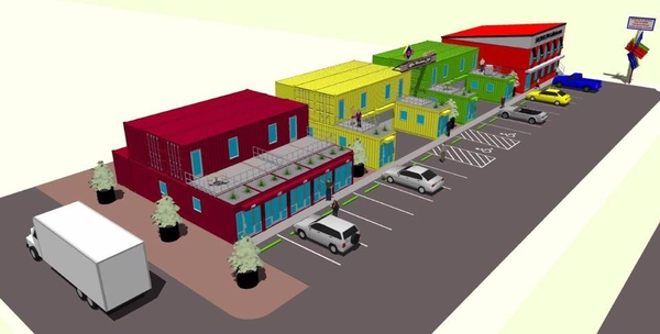 New Neighborhood Retail Center Made from Shipping Containers Opens in Fort Worth
