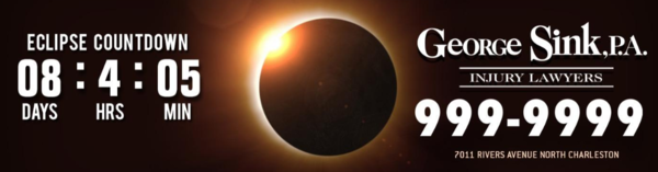Eclipse Countdown Clocks Remind Drivers to Stay Safe on the Highways