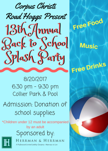 Herrman & Herrman Sponsors Splash Party to Collect School Supplies