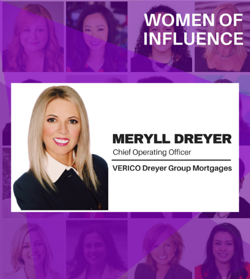 Women of Influence Meryll Dreyer, Canadian Mortgage Professional Hot List