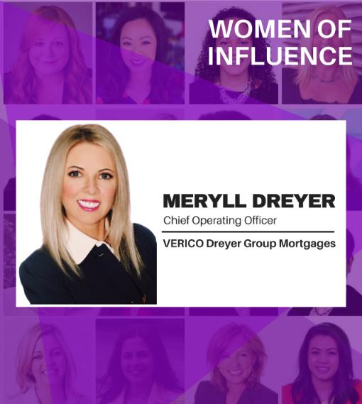 Women of Influence Meryll Dreyer, Canadian Mortgage Professional Hot List