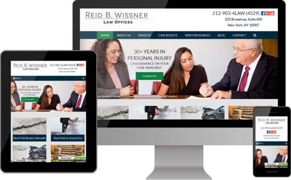 Reid B. Wissner Law Offices Debuts New Website