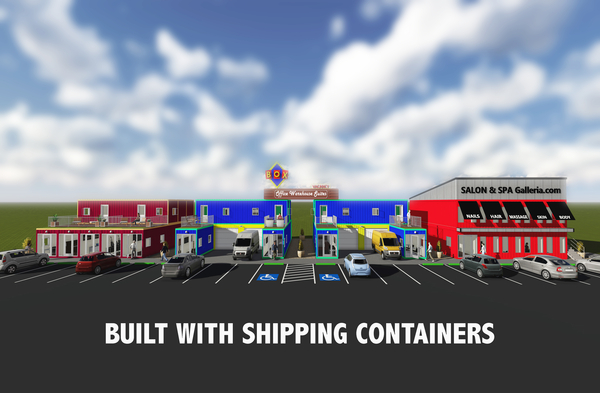 Office Warehouse Development Built with Shipping Containers