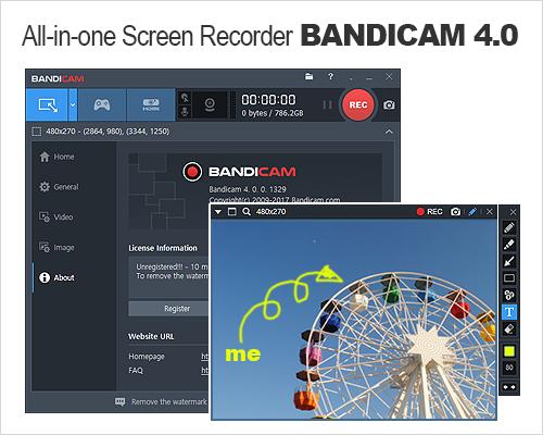 Bandicam Company Announces Release of Bandicam 4.0.0