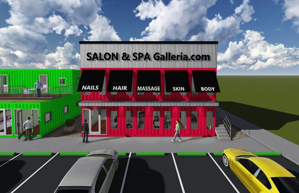 Salon & Spa Galleria Announces New Location in Shipping Container Retail Center