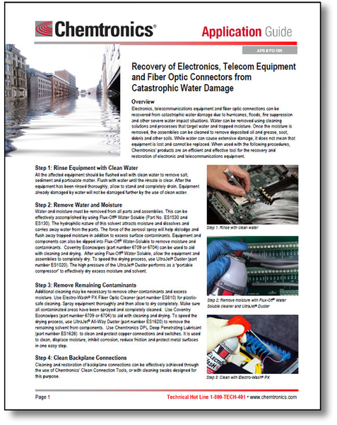 Guide to Recovery of Electronic, Electrical and Telecom Equipment from Catastrophic Water Damage
