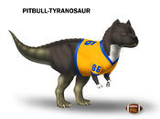 "Don't mess with Marshawn Lynch's Pitbull-Tyranosaur ""IceAsaurus-Rex"""