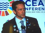 <strong>Fabien Cousteau, speaking before the United Nations General Assembly, on World Oceans Day, June 8, 2017.</strong>