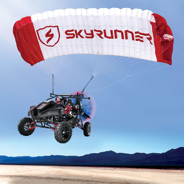 The SkyRunner Flying Car Chosen for the Cover of the 2017 Hammacher Schlemmer Holiday Catalog