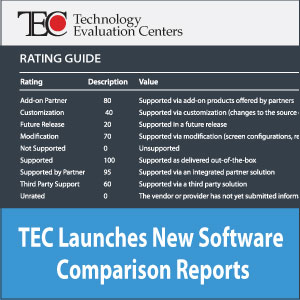 Technology Evaluation Centers (TEC) Launches New and Improved Software Comparison Reports