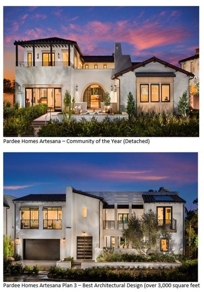 Pardee Homes Wins Big at San Diego Building Industry Association Awards