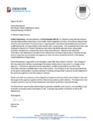 <strong>Folium Biosciences Approval Letter from the Public Health Inspections Division, Denver Department of Environmental Health</strong>