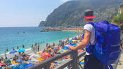 <strong>Main Travel Backpack shown in Monterosso Al Mare, Cinque Terre, Italy</strong>