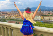 <strong>The Wanderlust Daypack shown in Florence, Italy</strong>