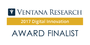 Ventana Research Announces 2017 Digital Innovation Awards Finalists