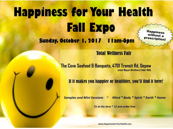 Happiness for Your Health Fall Expo this Sunday at The Cove