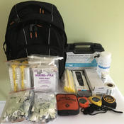 <strong>Aquagenx Basic Field Kit comes in a sturdy back pack and only weighs nine pounds. Includes tests and equipment for 100 samples. Complete list of contents at https://www.aquagenx.com/field-kits/</strong>
