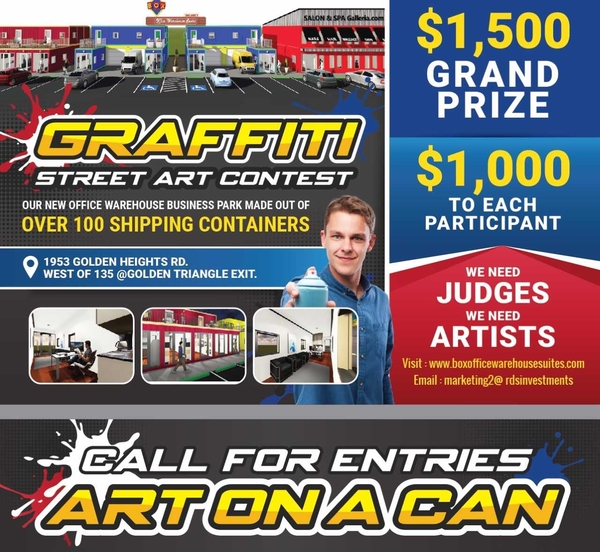 Artists and Judges Needed for Graffiti / Street Art Contest