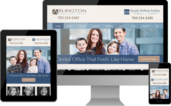 New Website Launches for Arlington Dental Aesthetics and South Riding Smiles