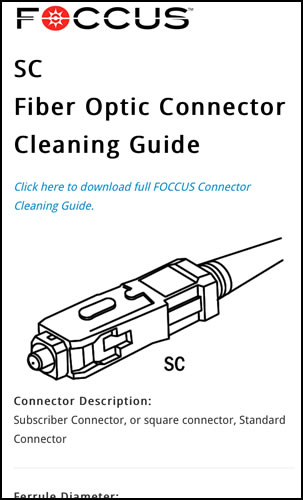 New Mobile Tool Provides Cleaning Recommendations for Over 24 Different Fiber Optic Connectors