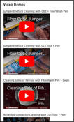 <strong>www.focleaning.com provides video demos of best-practice cleaning procedures</strong>