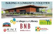 <strong>BNBuilders, RNT Architects, Borrego Springs Unified School District, Tail is Up Fnd and SD County Library & Parks & Rec are represented on a banner leading a float in the Borrego Days Parade Oct 21</strong>