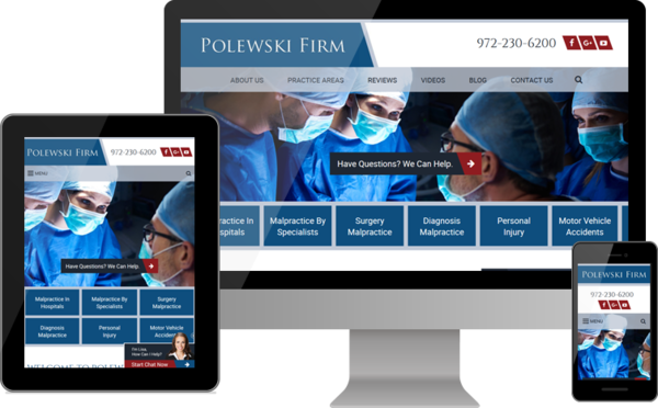 Polewski & Associates Launches New Website for Accident and Injury Clients in Dallas Area