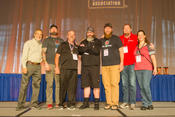 <strong>Uberbrew team accepting their Silver medal at the 2017 Great American Beer Festival.</strong>