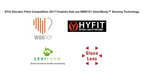 Well Being Digital (WBD101) SmartBody Sensing Technology is used by 4 of the 100 Finalists in the Elevator Pitch Competition (EPIC)