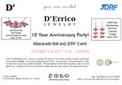 This is an invitation to D'Errico Jewelry's 10th Anniversary Party taking place Halloween night, Tuesday, Oct. 31 at 159 East Main Street, Mount Kisco, NY.