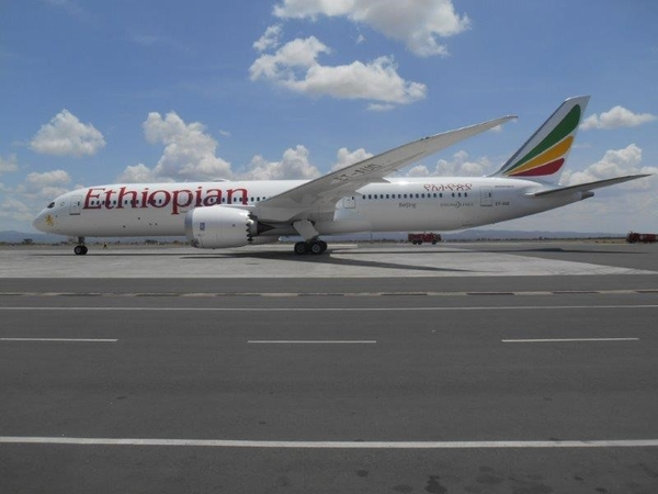Africa's First Ethiopian B-787-9 Made Its Debut Flight to the Roof of Africa