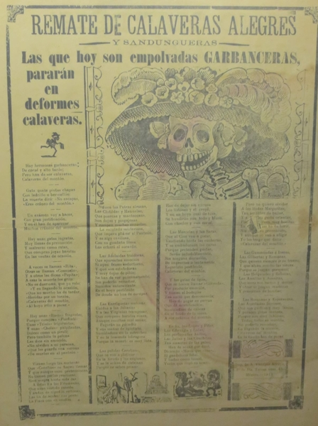 Day of the Dead or Dia de los Muertos, What is the Origin of the Grinning Skull with the Feathery Flowery Hat Called La Catrina?