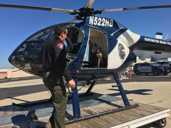 Man K-9 Hosts Training Simulation in Huntington Beach