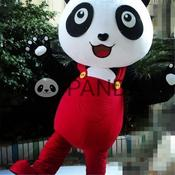 Cute panda animal mascot costumes cosplay game adult size