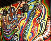 <strong>Atlanta mural art painting by Corey Barksdale.</strong>
