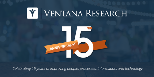 Ventana Research Celebrates its 15th Anniversary