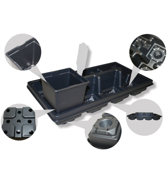 T.O. Plastics Expands Line of Square Pots Specifically Designed for Enhanced Drainage
