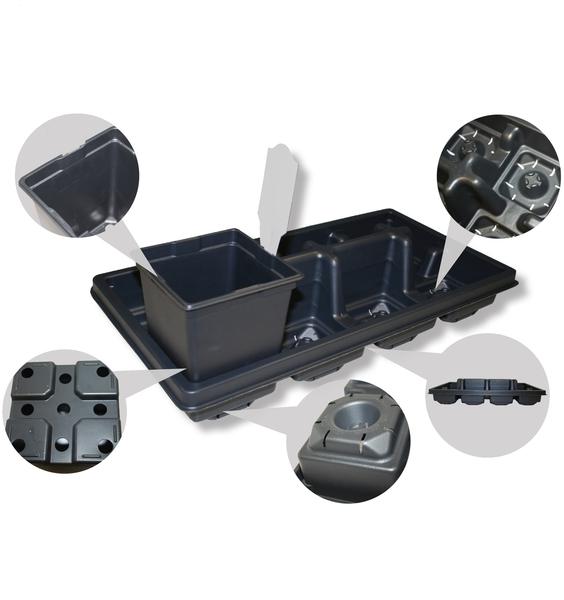 T.O. Plastics Expands Line of Square Pots Specifically Designed for Enhanced Drainage