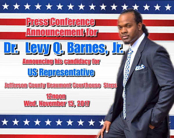 Businessman, Inventor, Educator, Preacher & Recording Artist, Dr. Levy Q. Barnes, Jr is Running for US Congress