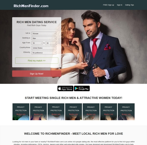 Rich Men Finder Brings Together Women and Men of Financial Means